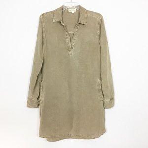 Cloth & Stone Tab Sleeve Rollup Tunic Shift Dress